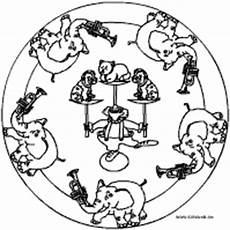 Malvorlagen Mandala Zirkus Zirkus Mandalas Im Kidsweb De