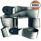 Classic Car Seat 2 Point Lap Belt Front Rear Chrome