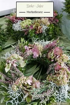 Deko Mit Hortensien - deko idee herbstkranz und florales dekoherz mehr ideen