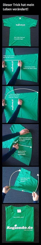 T Shirt Zusammenlegen Einfach Und Schnell Folding Your