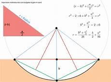 kreis radius berechnen kreisradius aus einer mulde im sand