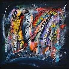 peinture tableau moderne tableau abstrait contemporain moderne flashy intitule cosmos