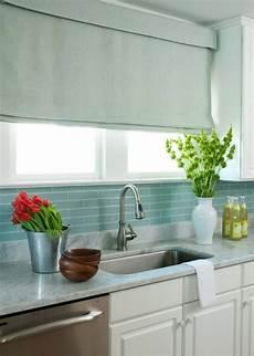 Blue Tile Backsplash Kitchen Blue Glass Tile Backsplash Cottage Kitchen Liz