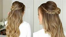 easy half up prom hairstyle sue youtube