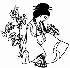japanische frau ausmalbild malvorlage l 228 nder
