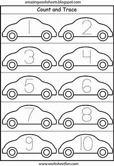 counting tracing numbers worksheets 8044 cars number tracing 1 10 preschool number tracing numbers and worksheets