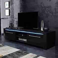 tv lowboard schwarz matt tv schrank lowboard sideboard conoy mit led schwarz matt