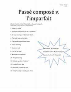 worksheets for passe compose 19196 pass 233 compos 233 vs imparfait worksheet by anna3636 uk teaching resources tes