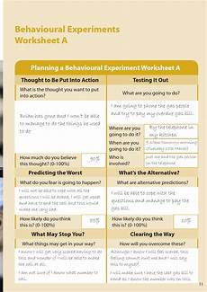 behavioural experiments worksheets 12670 behavioural experiments in low intensity cbt by cedar of exeter issuu