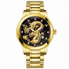 2019 watch men luxury brand steel gold dragon mens watch classic wristwatch casual watches