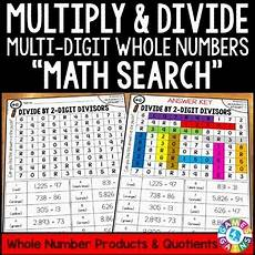 5th grade multi digit multiplication and division 5