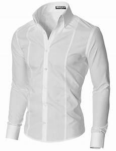 mens slim fit high collar dress shirt mssf501 ebay