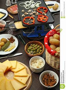 raclette dinner stock photo image of culture potato