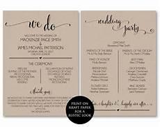 wedding program template wedding program printable we do ceremony printable template pdf