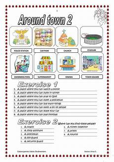 places around town worksheets 16029 around town worksheet free esl printable worksheets made by teachers