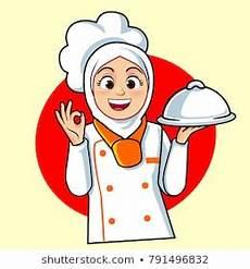 22 Gambar Kartun Chef Berhijab Inspirasi Spesial