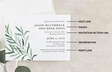 Exles Of Wedding Invitation Wording