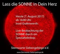 Sonnen Beobachtung Insel Grafenwerth 7 August 16 00 Ca