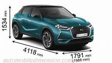dimension ds3 crossback car dimensions of all makes with size comparison tools