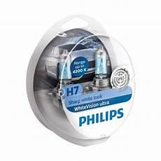 philips whitevision ultra h7 headlight bulbs