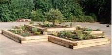 Gartengestaltung Mit Holz - einfassung beete holz schwellen garten beeteinfassung