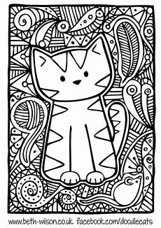 free coloring page 171 coloring difficult cute cat
