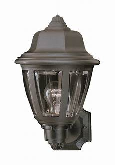 lighting sl94407 plastic outdoor traditional black finish 8 quot wide exterior wall sconce