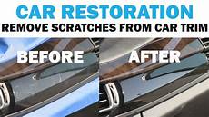 removing the scratches from a luxury car s interior trim