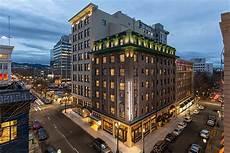a rich material palette defines portland s new woodlark hotel