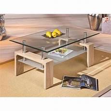 Table Basse Rectangulaire En Mdf Avec Un Plateau En Verre