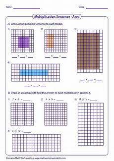 multiplication worksheets area model 4309 multiplication models worksheets