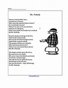 poetry worksheet for grade 5 25419 mr nobody poetry worksheets poetry worksheets poetry analysis worksheet poetry