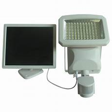nature power outdoor 144 led solar powered motion activated security light in white 22266 the