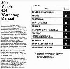 free car manuals to download 2001 mazda 626 electronic throttle control 2001 mazda 626 repair shop manual original
