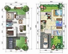 15 Contoh Denah Rumah Minimalis Modern Nyaman Dan