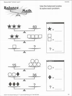 solving two step equations with balancing scales worksheet search math enrichment