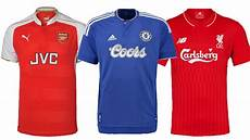 2015 16 premier league shirts with classic sponsors youtube