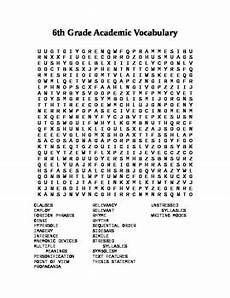 6th grade academic vocabulary word search by harville tpt