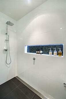 led strip in shower shower niche bathroom inspiration