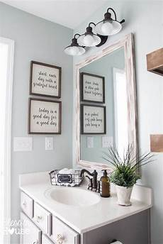 decorating ideas for bathroom walls modern farmhouse bathroom makeover reveal