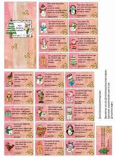adventskalender sprüche zum ausdrucken mini adventskalender 2 zaubereinmaleins designblog