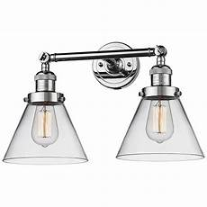 large cone 11 quot high chrome 2 light adjustable wall sconce 40x66 ls plus
