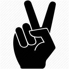 peace zeichen finger expression fingers gesture peace two icon