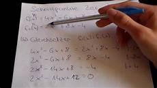 quadratische funktionen teil 5 schnittpunkte 2er parabeln