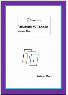 lesson plan for teaching the road not taken teacherstrading com lesson plan cover page literature the road not taken