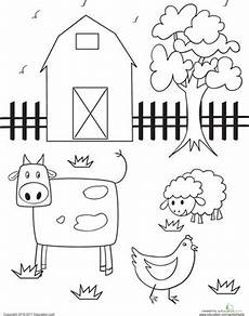 coloring pages of farm animals for preschoolers 17331 barn coloring page farm animals preschool farm animal crafts preschool coloring pages