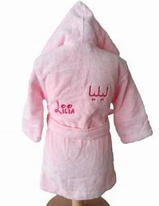 peignoir personnalisé bébé peignoir b 233 b 233 brod 233 en fran 231 ais et en arabe lilia