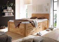Holzbetten Mit Schubladen - quadrato massivholzbett kernbuche holzbett mit