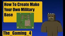 unturned map editor how to make a military base youtube