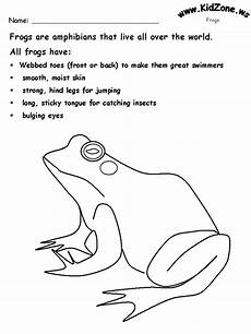 frog activity sheet about frogs